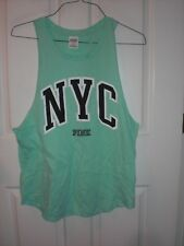 Victoria's Secret PINK Mint Green Muscle Tee NYC Size M Nwot