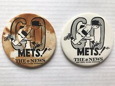 Vintage 1969 New York METS Daily News Souvenir Pinback Buttons / Shea Stadium