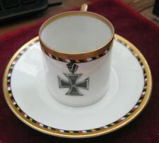 Demitasse Cup & Saucer 1914 Iron Cross, Torses w/ Black Red Gold & White 5869 4