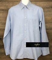 Ermenegildo Zegna Sport Men's Light Blue Long Sleeve Button Down Shirt Italy L