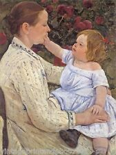 The Child's Caress by M Cassatt 8x10  Print  French Mother  Infant Baby Girl 62