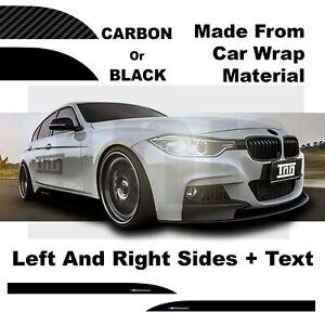 Side Skirt Car Stickers For BMW 3 Series M PERFORMANCE F10 F30 F31 F32 F33 F35