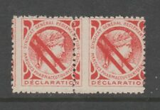 France fiscal revenue stamp 7-11-20 mnh gum miss perfed