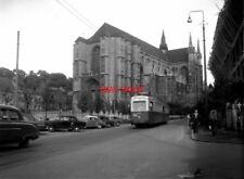 PHOTO  BELGIUM TRAMS 1959 MONS CENTRE SNCV BRAINE-LE-COMPTE TRAM  NO  10388 1947