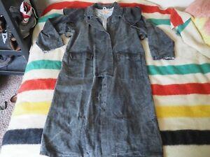 VTG Australian Outback Cowboy Rain Duster Long Jacket Large Denim Jacket Coat L