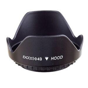 49mm 49 mm Plastic Standard Crown Petal Lens Hood for Canon Nikon Sony Olympus