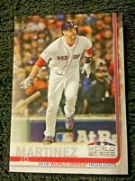 2019 Topps SERIES 1 VINTAGE STOCK #76 J.D. Martinez WORLD SERIES Red Sox 39 /99