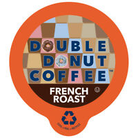 Double Donut French Roast Coffee Single Serve Cups for Keurig K-cup Brewer