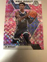 2019-20  Prizm Mosaic Basketball Ja Morant NBA Debut RC Pink Camo Flawless 10?