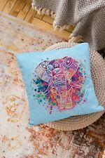 "Cross Stitch Pillow Cover DIY Kit ""Elephant"" 11.8x11.8"""