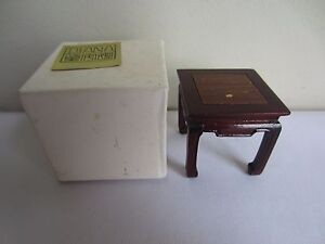 Vintage Diana Miniatures Furniture Wood End Side Table or Nightstand with Box