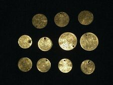 More details for 11 turkish ottoman antique high carats gold coins circa 1808,gold sovereign
