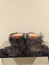 Vintage Vera Pelle mountain size U.S.6.5 Dark Goat Hair / Fur Snow Boots!