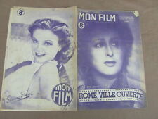 REVUE CINEMA MON FILM / ROME VILLE OUVERTE ANNA MAGNANI  CITTA ASPERTA