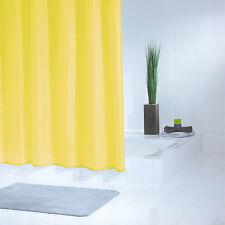 RIDDER Duschvorhang Standard gelb - PVC-frei - 180 x 200 cm - inkl. Ringe