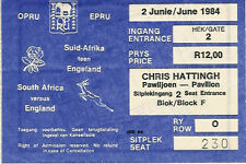 SOUTH AFRICA v ENGLAND 1st Test 1984 RUGBY TICKET