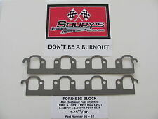 """Ford 460 EFI Exhaust Gaskets ('88-'89) ('93-'97) (1.625"""" x 1.900"""" Square Ports)"""