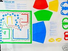 1987 The Learning Line Gentile Giants Follow Me Schooling Educational Fabric