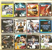 Lot PS3 12 jeux pour console Sony Playstation 3 Battlefield, Farcry, Wolfenstein