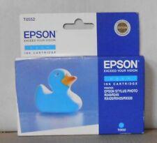 ORIGINALE Epson t0552 inchiostro ciano per stylus photo r240 r245 rx420 rx425 rx520
