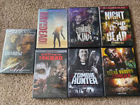 Zombie Horror DVD Lot, 7 Zombie Movies. All Brand New!