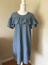 J Crew New Edie Dress In Chambray Blue G0376 Size 12 Sold Out! $98