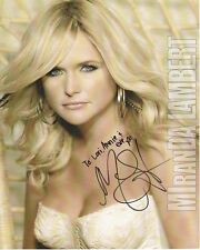 MIRANDA LAMBERT Autographed Signed Photograph - To Lori, Annie & Eve