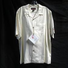 NWT CLUB COHIBA Waywood Islands 100% Silk Camp Shirt Sz M Short Sleeve Beach Bum