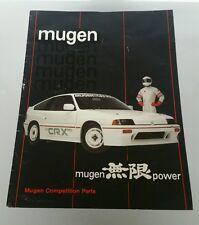 Rare 1984 Honda CRX Mugen Competition Parts Catalog Brochure USA Spec