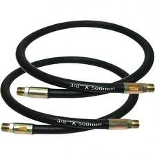 """2 Hydraulic Breaker Hose R2AT 3/8"""" Whip Hose Male to Male Fitting 0.5 M Metre"""