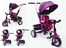 New Reverse Seat Tricycle Toddler Kid Pram Stroller Ride on Trike Control Handle