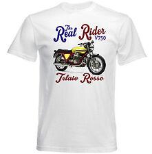 VINTAGE Italiano Motocicletta Moto Guzzi V750 Telaio Rosso-Nuovo T-shirt di cotone