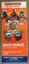 2015-16 NFL AFC CHAMPIONSHIP PLAYOFF PATRIOTS @ BRONCOS FOOTBALL SOUVENIR TICKET