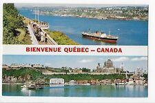 Vintage Postcard Bienvenue Quebec Canada La Promenade des Gouverneurs Multiview
