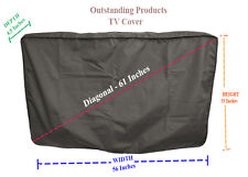 Weather Resistant Lined Protective Outdoor TV Cover For LG 60UJ7700 HD TV Black