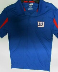 NEW YORK GIANTS 2 TONE TEAM NFL DRI FIT GOLF SHIRT POLO NEW MENS SM MEDIUM