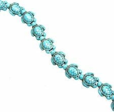 10 Turquoise Sea Turtle Beads 18mm Large Spacers Ocean Nautical Jewelry Supplies