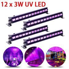 4PC 36W UV Stage Light 12 LED DJ Wall Wash Black Light Effect Disco Party Light