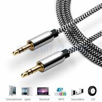 1M - 3.5mm Jack Plug Aux Cable Audio Lead For to Headphone MP3 iPod PC Car GOLD