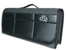 Car Boot Tidy Organizer with Carbon Fiber Leatherette front , Inspired by ABARTH