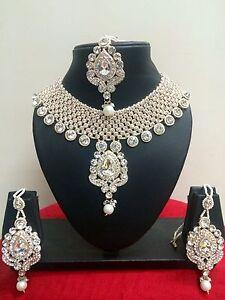 Indisch Bollywood Vergoldet Modisch Braut Schmuck Halskette Set