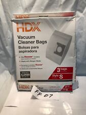 HDX Vacuum Cleaner Bags Style S, Fits Hoover models, Made w/ Allergen Media