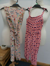 x2 Girls Summer Jumpsuit Hearts and Flowers Age 4-5