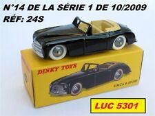 SIMCA 8 SPORT NOIRE #24S N°14 DE LA SÉRIE 1 PAR DINKY TOYS / ATLAS