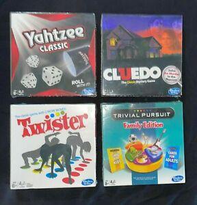 Yahtzee, Cluedo, Twister, Trivial Pursuit Travel Size Games - NEW Sealed Hasbro