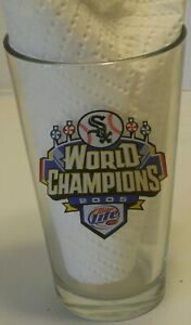 "2005 Chicago White Sox World Champions Miller Lite 6"" Pint Glass Series"