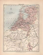 1880 ca ANTIQUE MAP- HOLLAND