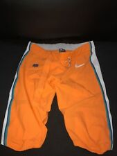 MIAMI DOLPHINS NIKE GAME USED ORANGE COLOR RUSH PANTS SIZE-42 YR-2016 WOW!
