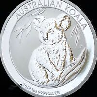 2019 1oz AUSTRALIAN .9999 SILVER KOALA COIN BU WITH MINT CAPSULE – FREE SHIPPING