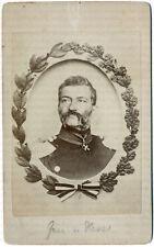 General von Hesse (?), Tann-Rathsamhausen (?), frühe Original CdV um 1865